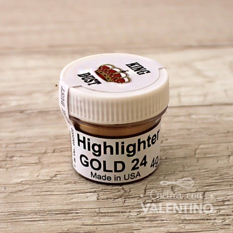 Colorante en Polvo Highlighter King Dust Gold 24k - 4Grs