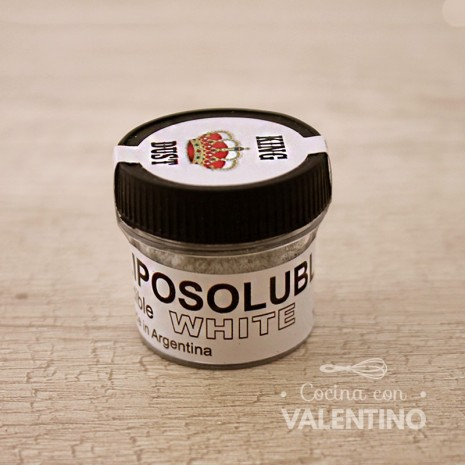 Colorante en Polvo Liposoluble King Dust Blanco - 4Grs