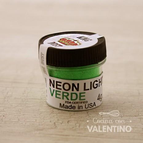 Colorante Neon King Dust Verde - 4Grs