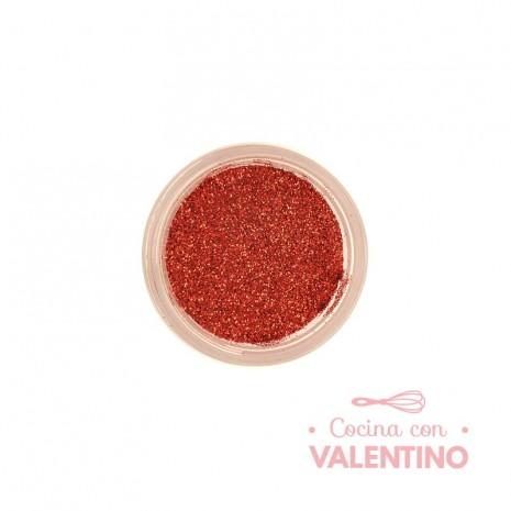 Gliter Rojo Lava - Rojo