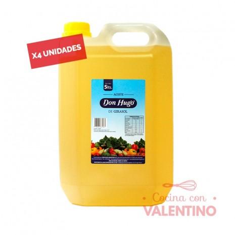 Aceite Girasol Don Hugo - 5Lts - Pack 4 Un.