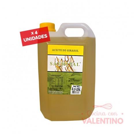 Aceite de Girasol Sathival - 3.5Lt - Pack 4 Un.