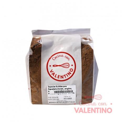 Especias Surtidas para Reposteria (Canela. Jengibre. Nuez Moscada. Pedunculo. Pimienta Negra) Granel - 250 Grs.