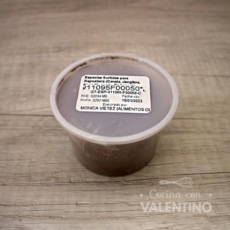 Especias Surtidas para Reposteria (Canela. Jengibre. Nuez Moscada. Pedunculo. Pimienta Negra) Granel - 50 Grs.
