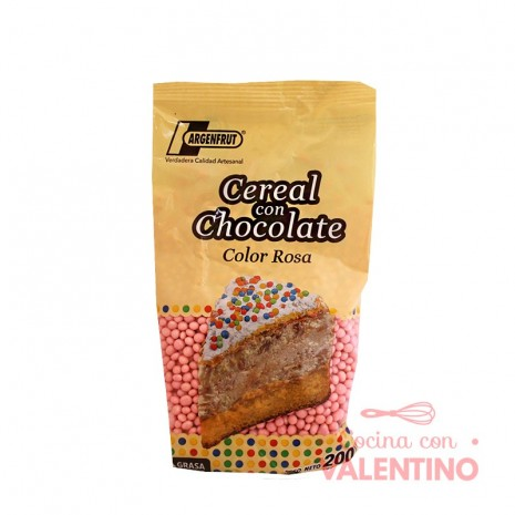 Micro Cereal con Chocolate Rosa - 200Gr