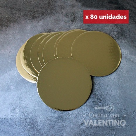 Disco Cartón Dorado Alprin 20cm - 80u