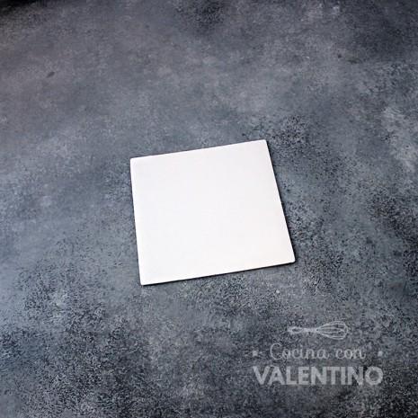 Base Cuadrada Cartón Blanco Alprin 12x12cm - 1u