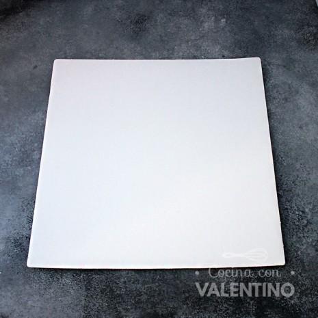Base Cuadrada Cartón Blanco Alprin 31x31cm - 1u