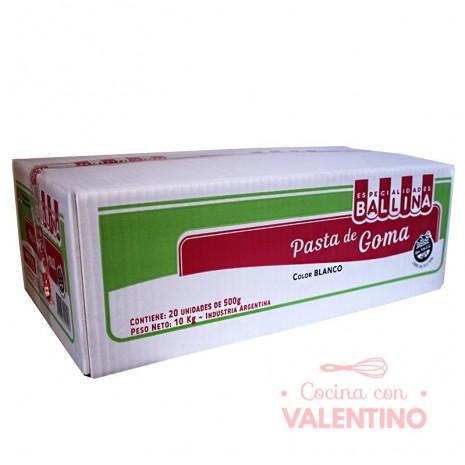 Pasta de Goma Blanca Ballina - 500Grs - 20 Un.