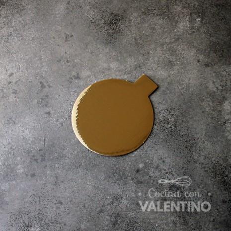 Disco Cartón Dorado Pestaña Alprin 12cm - 1u