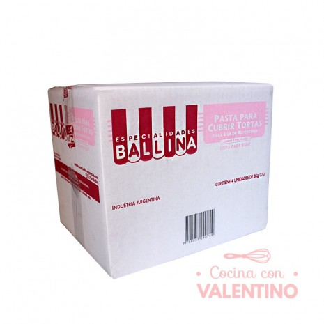 Pasta Cubretorta Chocolate Ballina - 3Kg - Pack 4 Un.
