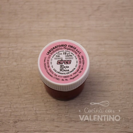 Colorante en Pasta Circe 15Grs - Rojo Rosa