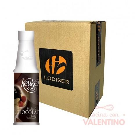 Salsa p/ Postre Keuken Chocolate 840Grs - Pack 6 Un.