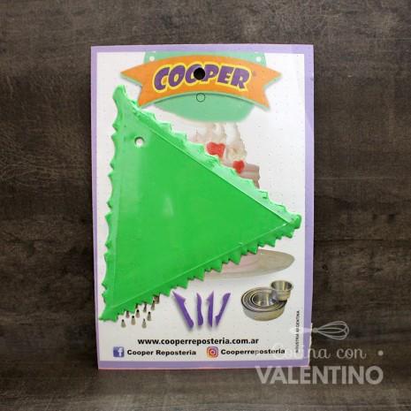 Peine Triangular Choco/Crema Cooper