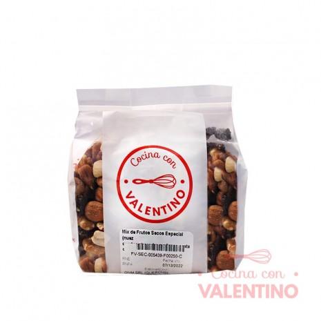 Mix de Frutos Secos Especial (nuez cuartos.almendra.avellanas.castañas.pasas de uva) - 250 Grs.
