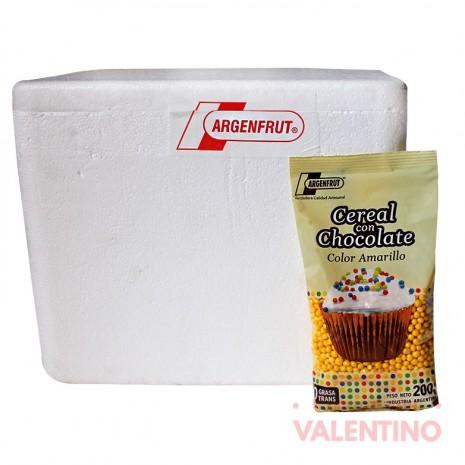 Micro Cereal con Chocolate Amarillo - 200Gr -Pack25Un.