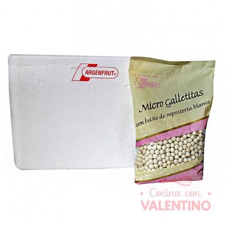 Micro Galletitas con Baño Rep. Blanco - 1Kg -Pack5Un.
