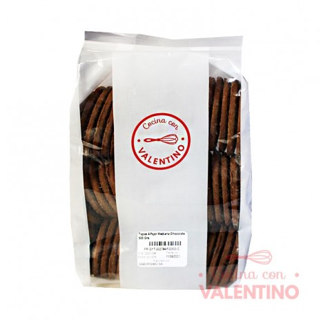 Tapas Alfajor Mediana Chocolate 500 Grs.