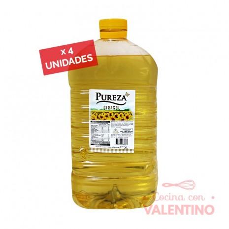 Aceite Girasol Cañuelas/Pureza - 5 Lts - Pack 4 Un.