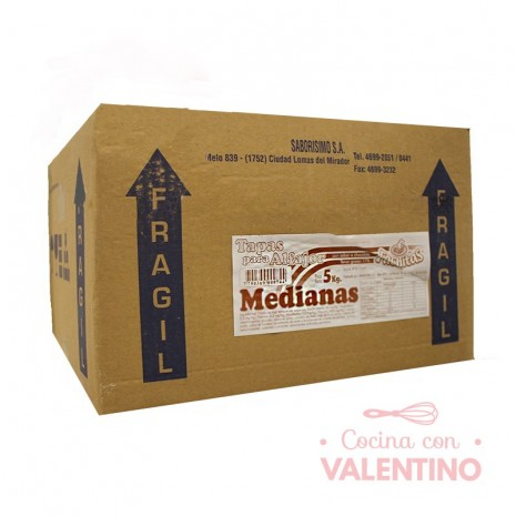 Tapas Alfajor Mediana Chocolate Fachitas Granel - 5Kg