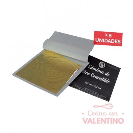 Lamina Oro Comestible 5 Hojas 9.2x9.2