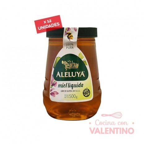 Miel Aleluya Liquida Frasco SIN TACC 500 gr. - Pack 12 Un.