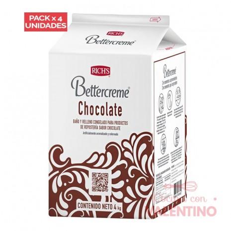 Bettercreme Chocolate Rich - 4Kg - Pack 4 Un.