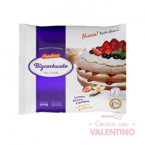 Bizcochuelo Red. Capas Vainilla Condesa - 500Grs