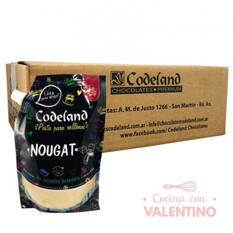 Pasta Relleno Nougat Codeland - 500Grs - Pack 8 Un.