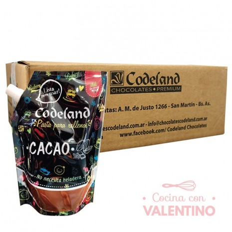Pasta Relleno Cacao Codeland 500Grs - Pack 8 Un.