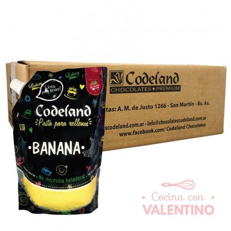 Pasta Relleno Banana Codeland - 500Grs - Pack 8 Un.