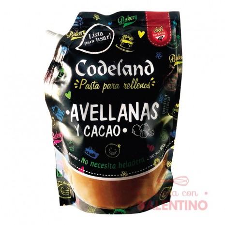 Pasta Relleno Avellana y Cacao Codeland - 500Grs