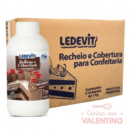 Rell. y Cob. Chocolate 1Kg - Caja 6u