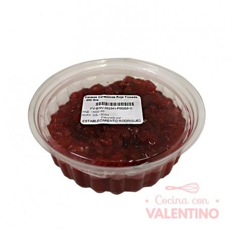 Cerezas Cereskinas Roja Trozada - 250 Grs.