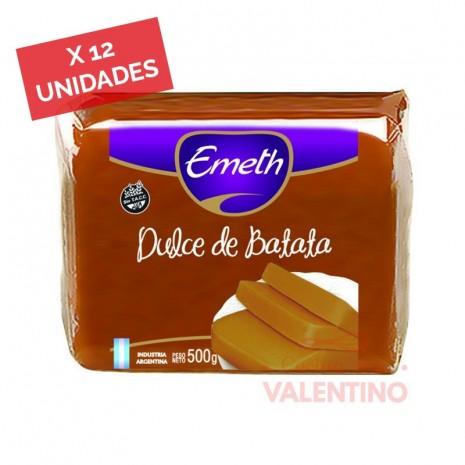 Dulce Batata Emeth - 500 Grs - Pack 12 Un.