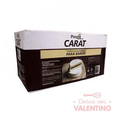 Baño Alfajorero Carat Coverliq Blanco Gotas Puratos 3.3 Kg