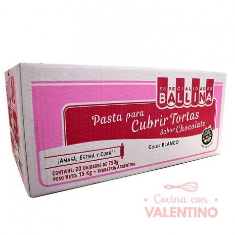 Pasta Cubretorta Chocolate Ballina 750 Grs - Caja 20u