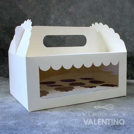 Caja Cartulina Tienda 12 Mini Cupcakes 25x17x11cm