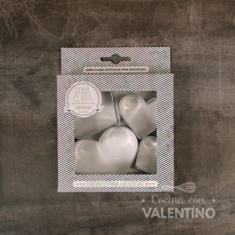 Cortante Corazón 4u Doña Clara