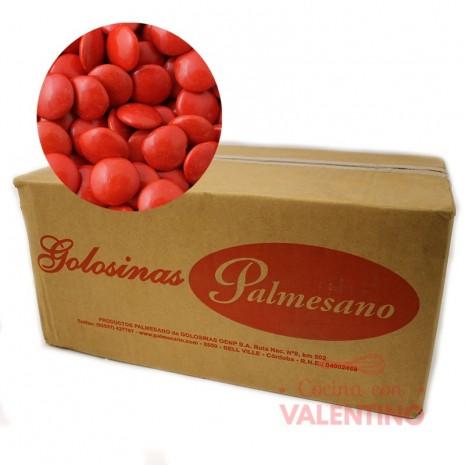 Lentejas de Chocolate Rojo - 10Kg.