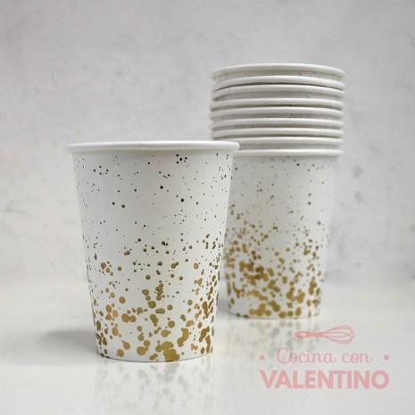 Vasos de Polipapel Línea Gold x10u