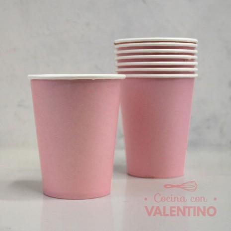 Vasos de Polipapel Color Rosa x10u