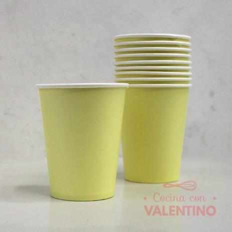 Vasos de Polipapel Color Amarillo x10u