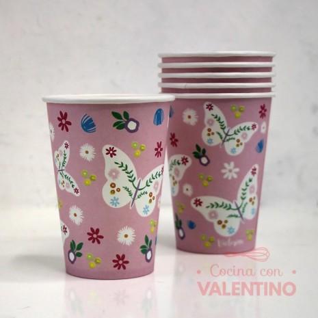 Vasos de Polipapel Romanticos x6u