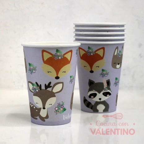 Vasos de Polipapel Animalitos x6u