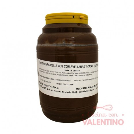 Pasta Relleno Avellana y Cacao Codeland - 3Kg