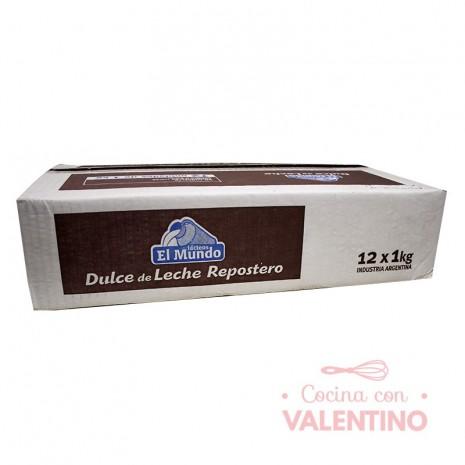 Dulce de Leche El Mundo 1Kg - Pack 12 Un.