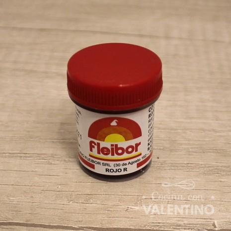 Colorante en Pasta Fleibor Rojo R - 15Grs