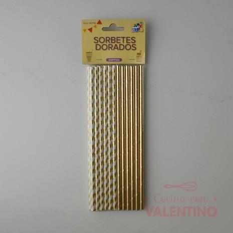 Sorbete De Polipapel Dorado x 24 Unidades
