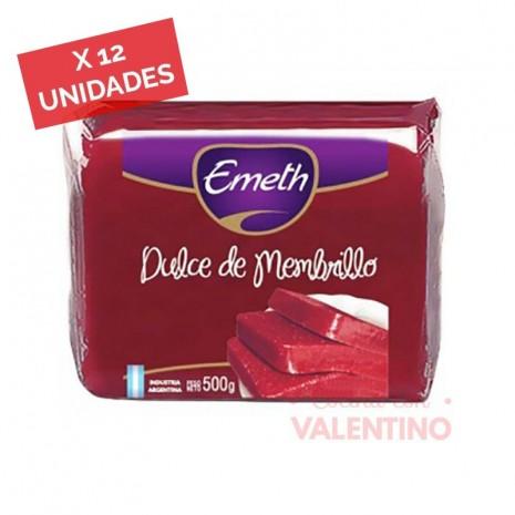 Dulce Membrillo Emeth - 500 Grs - Pack 12 Un.